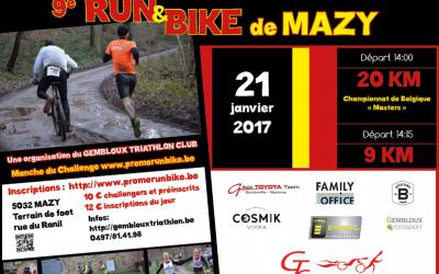 Run & Bike de Mazy, championnat de Belgique Masters 2017